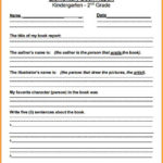 Book Report Template 2Nd Grade