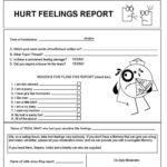 Hurt Feelings Report Template