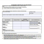 Certificate Of Insurance Template