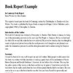 College Book Report Template