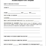Incident Report Form Template Doc