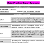 It Issue Report Template