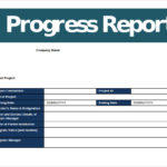 It Progress Report Template