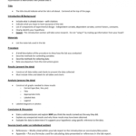Lab Report Template Chemistry