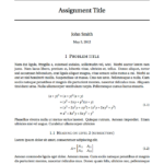 Latex Template Technical Report