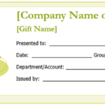 Microsoft Gift Certificate Template Free Word
