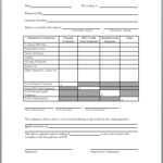 Microsoft Word Expense Report Template