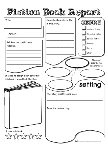Nonfiction Book Report Template