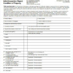 Property Management Inspection Report Template