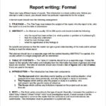 Template On How To Write A Report