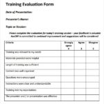 Training Feedback Report Template