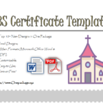 Vbs Certificate Template