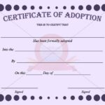 Blank Adoption Certificate Template