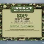 Boot Camp Certificate Template