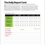 Daily Report Card Template For Adhd