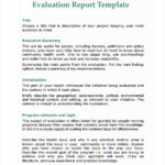 How To Write A Work Report Template
