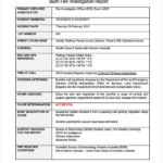 Hr Investigation Report Template