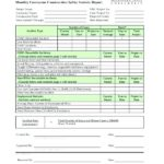 Monthly Financial Report Template