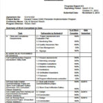 Progress Report Template For Construction Project