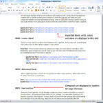 Report Specification Template