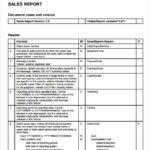 Sales Rep Visit Report Template