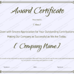 Sample Award Certificates Templates
