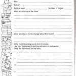Second Grade Book Report Template