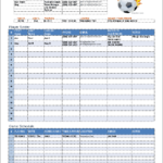 Soccer Report Card Template