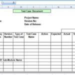 Software Test Report Template Xls