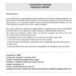 Training Report Template Format