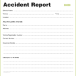 Incident Report Book Template