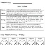 Daily Behavior Report Template