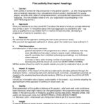 Evaluation Summary Report Template