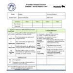 Homeschool Middle School Report Card Template