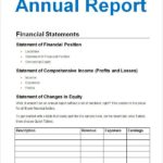 Llc Annual Report Template