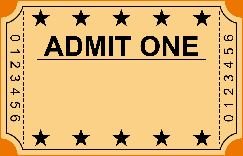 Blank Admission Ticket Template