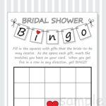 Blank Bridal Shower Bingo Template