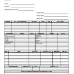 Blank Call Sheet Template