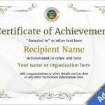 Blank Certificate Of Achievement Template