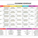 Blank Cleaning Schedule Template