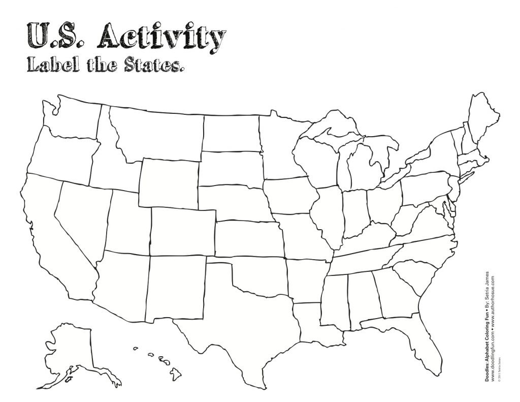 Blank Template Of The United States