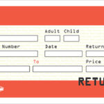 Blank Train Ticket Template