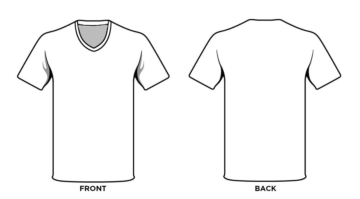 Blank V Neck T Shirt Template