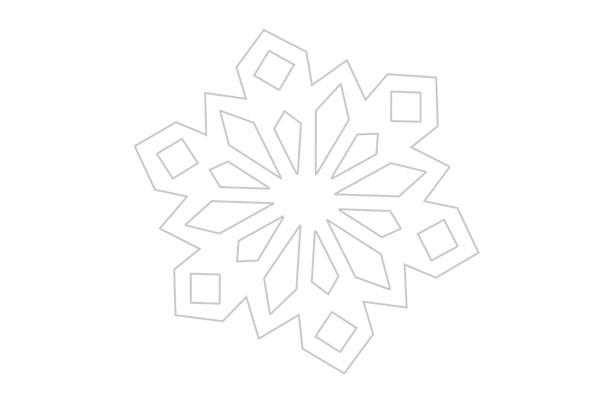 Blank Snowflake Template