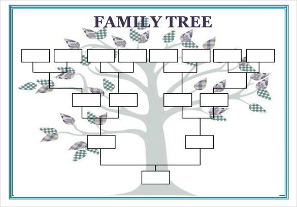 Blank Tree Diagram Template