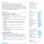 Resume Templates Software Engineer