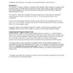 6 Month Progress Report Template