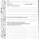 Biography Book Report Template 6th Grade