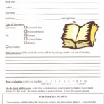 Book Report Template Grade 7