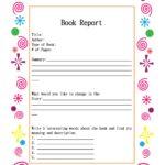 Book Report Template Grade 9